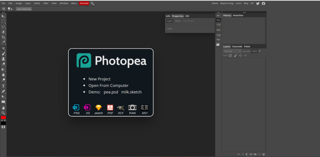Cinco alternativas a Photoshop online gratis y fáciles de usar photopea