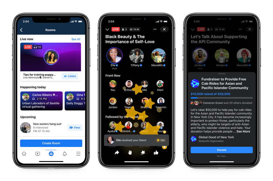 Facebook presenta su gran apuesta por el audio integrará podcasts, y una colaboración con Spotify live audio rooms